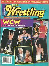 Eb1343 Jimmy Hart & Vader signed Vintage Wrestling Magazine w/Coa *Bonus*