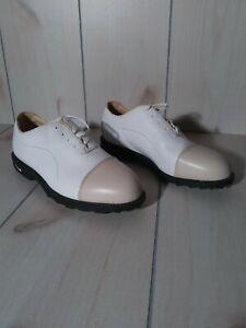 Nike Air Comfort Bella Last Womens Golf Shoes Size 9 White Beige Soft Cleats