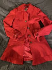 Guess Los Angeles Red Ladies /Teen Size XS Coat Lined Wool Blend Red VGUC