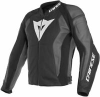 DAINESE NEXUS MENS LEATHER JACKET MOTORBIKE / MOTORCYCLE BLACK EBONY