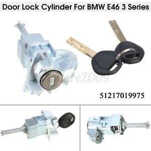 Driver Side Door Lock Cylinder Barrel Assembly 2 Keys For BMW E46 3 Series 01-06