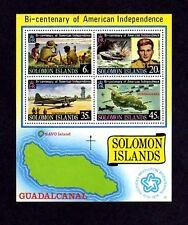SOLOMON IS - 1976 - BICENTENNIAL - KENNEDY - PT-109 - WW II - MNH - S/SHEET!