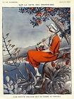 Vie Parisienne Cover Fashion Umbrella Beach Orange Vintage Poster Repro FREE S/H