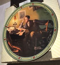 """1986 Norman Rockwell """"A Young Man's Dream"""" Collector Plate #2951A *Knowls*"""