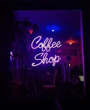 "Neon Light Sign 32""x24"" Coffee Shop Cafe Beer Bar Artwork Decor Lamp"