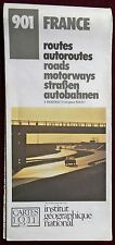 IGN 1985 COLOURED CONTOURED MOTORISTS PAPER MAP of FRANCE No. 901 1:1000 000