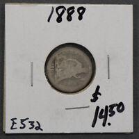 1888 10c LIBERTY SEATED DIME LOT#E532