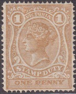 VIC 1d pale bistre Stamp Duty mint. SG 265a