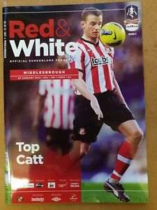 Sunderland V Middlesbrough FA Cup 4th Round 29th Jan 2012