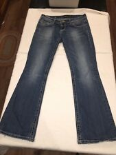 ReRock for Express Women's Boot Cut Jeans Size 4 Short Low Rise Distressed 4S