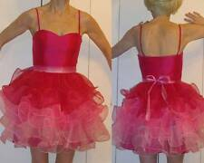 $428 BETSEY JOHNSON Collection PINK BABYDOLL RUFFLED DRESS Sweetheart neckline 2