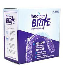 Retainer Brite 36 Tabletas Limpiadoras ~ Aparatos Dentales Removibles Retenedor