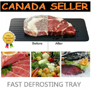2X Quick Fast Thawing Defrosting Tray Kitchen Safe Defrost Thaw Frozen Meat Food