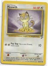 POKEMON MEOWTH 80/130 CARD #52 1st Edition Used/High Grade Near Mint