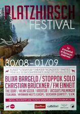 PLATZHIRSCH - 2012 - Konzertplakat - Blixa Bargeld - FM Enheit - Stoppok
