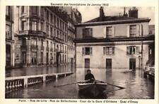 CPA Souvenir des Inondations. PARIS Rue de Lille. Rue de Bellechasse (561966)