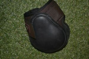 FETLOCK BOOTS XL BROWN  WITH  BLACK STRIKE PAD NEW NEOPRENE AND  RUBBER
