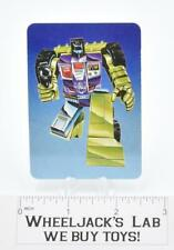 Scrapper Card 121 Variant Color Transformers Action Trading Cards 1985 G1