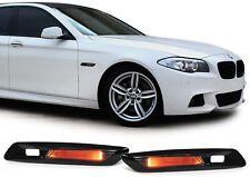 2 CLIGNOTANT REPETITEUR A LED NOIR BRILLANT POUR BMW SERIE 5 F10 ET F11