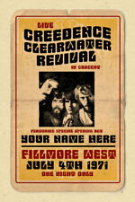 your name on a CREEDENCE concert poster! personalized gift - vintage look CCR