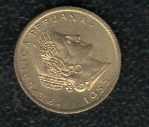 PERU 20 CENTS 1955