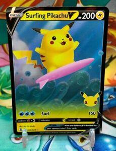 Surfing Pikachu V 008/025  Pokemon Card Celebrations 25th Anniversary M-NM