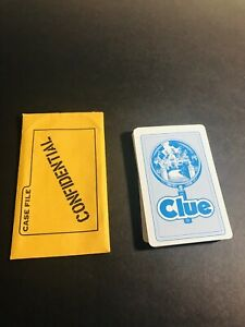 Clue Board Game Replacement Complete Card Set With Case File Envelope 1986