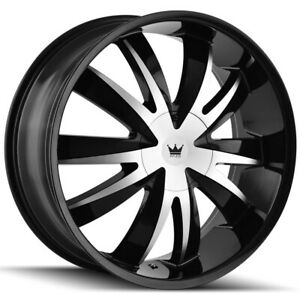 "Mazzi 337 Edge 20x8.5 5x112/5x120 +35mm Black/Machined Wheel Rim 20"" Inch"