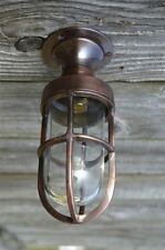 Petit poli bronze bateau plafond cloison flush mount light wall lamp sfmbz 1 b