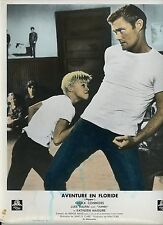 CHUCK CONNORS LUKE HALPIN AVENTURE EN FLORIDE FLIPPER 1963 VINTAGE LOBBY CARD 2