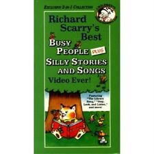 Richard Scarrys Best Busy People Silly Songs Ever VHS