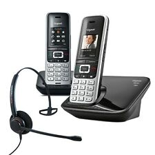 Cordless Phone Gigaset S850A 2 Handsets w Answer Machine and Corded Headset  DEC