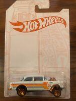 2020 New Hot Wheels 52nd Anniversary Pearl & Chrome 55 Chevy Bel Air Gasser NIP