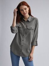 Dorothy Perkins Womens Green Utility Button Up Shirt Casual