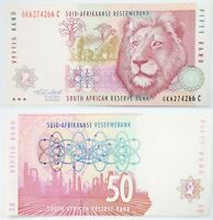 South Africa Banknote 50 Rand Series ND  SN:GK6274266 Almost UNC Pick #193A