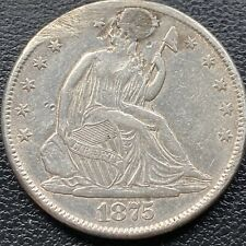 1875 CC Seated Liberty Half Dollar 50c Higher Grade XF - AU Details #22215