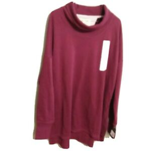 Women's Long Sleeve French Terry Pullover C9 Champion Burgundy XXL Cowl Neck NWT