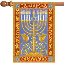 New Toland - Festival of Lights - Chanukah Winter Hanukkah Menorah House Flag