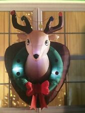 CHRISTMAS 3.61 FTAirblown Inflatable Deer Head Christmas Decoration