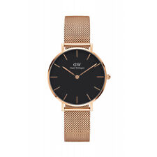 Daniel Wellington Women Classic Black/ Rose Gold Face Petite Melrose Watch 32mm