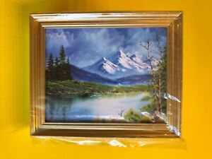 """Dollhouse Miniature Picture """"Scenic Lake and Mountain"""" by Jacqueline's"""