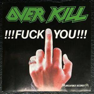 Overkill Aufkleber !!! Fuck You !!! Original 80er Jahre