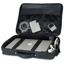 """Quadra Portfolio Laptop Case Upto 17"""" Inch Black Premium Business Bag (QD266)"""