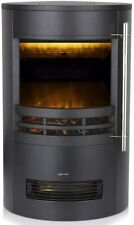 Elmswell Electric Curved Freestanding Stove Fire with 3D Log Burner Flame Effect