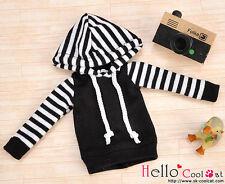 ☆╮Cool Cat╭☆21.【NP-B01】Blythe/Pullip Hoodie Top(Long Sleeves)# Black Stripe