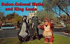 Disneyland Postcard Jungle Book Baloo, Colonel Hathi, King Louie~122789