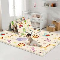 Foldable Baby Play Mat Crawling Mat Waterproof Floor mat Blanket Dual-sided