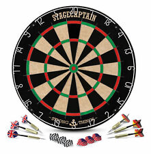 Profi Dartscheibe Sisal Dartboard Bristle Board 6 Steeldart Pfeile Flights Set