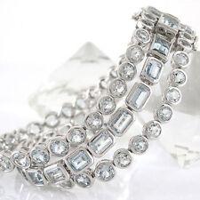 Natürliche echten Armbänder mit Edelsteinen aus Weißgold für Damen