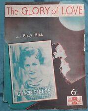 Billy Hill / Gracie Fields – The Glory Of Love pub.1936